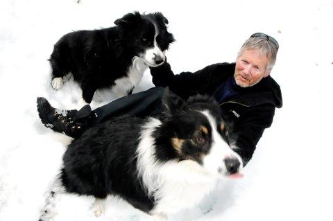 UHELL OG UVÆR: Turistforeningens tilsynsmann Wiggo Vasshaug Hansen fra Dombås ble liggende værfast i fjellet med hundene sine.