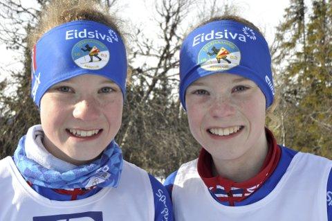 TVILLINGDUELL: Maria (t.v.) og Kristina Masovn Haave tok de to første plassene i J14. Alle foto: Geir Teigøyen