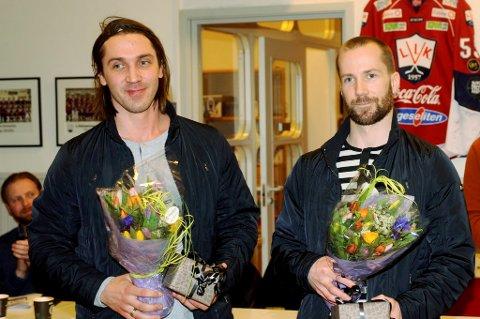 Veteranene joakim Eidsa Arnestad og Stein Tore Bakken får noe å bryne seg på da tyske Fischtown Pinguins kommer til Kristins Hall for å spille treningskamper.