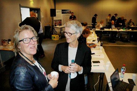 Administrerende direktør Alice Beathe Andersgaard og styreleder Anne Enger i Sykehuset Innlandet må innse at det tar tid for å få avklart videre framdrift for Mjøssykehuset