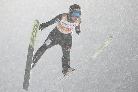 Maren Lundby under damenes verdenscuprenn i hopp under RAW AIR i Lysgårdsbakken på Lillehammer.