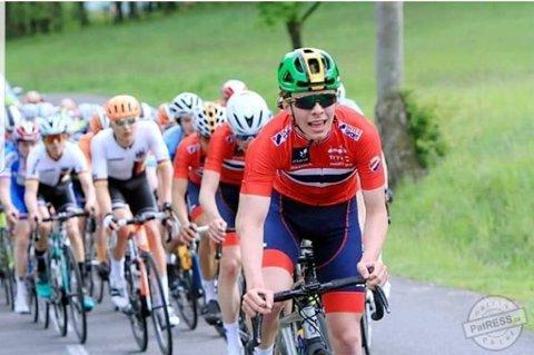 Johannes Staune-Mittet lå godt an til NM-medalje - men halvparten av tetgruppa kjørte feil like før mål. Her er Staune-Mittet fra et tidligere løp i Tour de Pay.