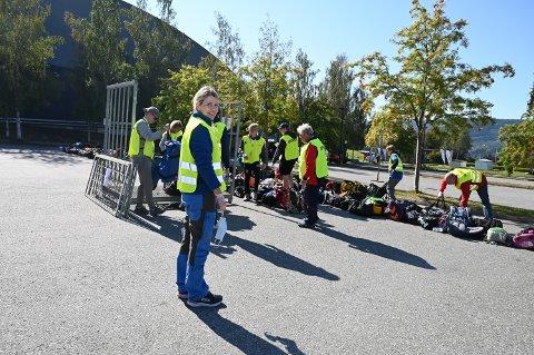 SYKKELBIRKEN 2021: Lene Sandbakken har ansvar for deltakernes håndbaggasje.