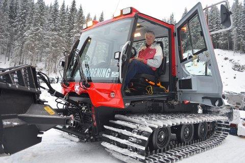 LØYPEKJØRER: Arild Bernstrøm tror på fine skiforhold, iallfall fram til 1. mai.