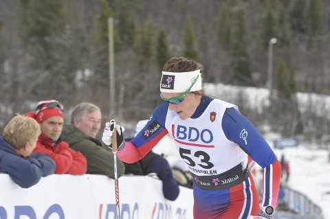 FORNØYD: Brandbu-jenta Barbro Kvåle ble nummer to på ti kilometer klassisk i Finland, og var selvsagt godt fornøyd. Arkivfoto: Rune Pedersen