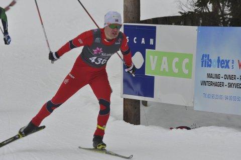 47: Johan Sørum Gangsø var to minutter bak norgesmester Martin Johnsrud Sundby.