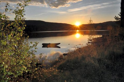 Tursti: Det jobbes med å få på plass en tursti langs idylliske Harestuvannet.