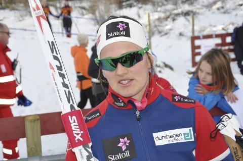 SIST I SEMIFINALEN: Barbro Kvåle var fornøyd med innsatsen på sprinten.