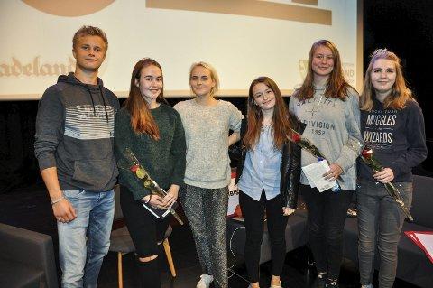 TØFF GJENG: Det er tøft å snakke om psykisk helse. Det beviste Magnus Sørumsbrenden (fra venstre), Mia Andersen Linnerud, Linnéa Myhre, Hanne Mortensen Rustad, Silje Staxrud og Idunn Marthinsen.
