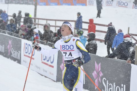 I RUTE: Karstein Johaug smelte til fra start i norgescupen på Ssjusjøen.