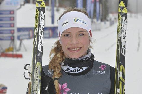 FORNØYD: Anna Grøntjernet gikk en meget sterk ti kilometer i NM.