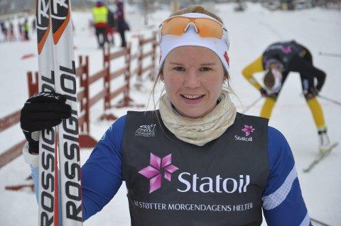 LEDER: Skiskytter Hanne Tingelstad leder norgescupen foran sesongavslutningen på Dombås. Arkivfoto: Rune Pedersen