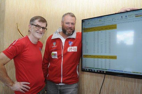 SKJEMA: Sæmund Moshagen og Arne Skogsbakken har kontroll på det meste.