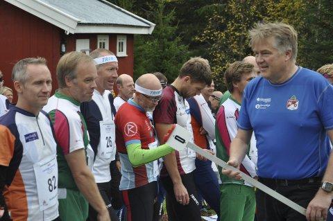 REKORD: John Hofoss i Hadeland O-lag (til høyre) opplever rekorddeltakelse i Finn Skedsmos Minneløp. Her fra løpet i 2016. Arkivfoto: Rune Pedersen