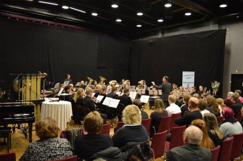 Jaren Hornmusikkforening i HO-mesterskapet 2017, ledet av Howard Evans.