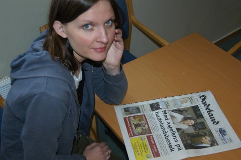 Ingrid Birkeli ved flyktningtjenesten i Gran og Lunner skal snakke i kirkestua søndag.