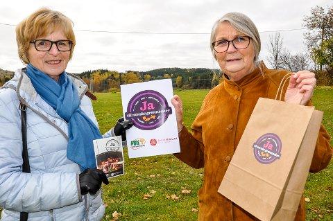 GRATIS GRØNT: Ingeborg Sæthre (t.v.) og Bitten Nesbakken slår et slag for norske grønnsaker.