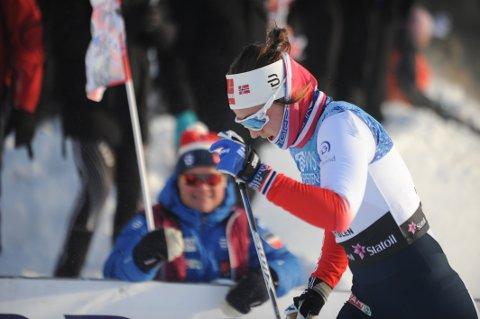 KVARTFINALE: Barbro Kvåle Trømborg ble utslått i kvartfinalen på Beitosprinten. Foto: Tommy Gullord