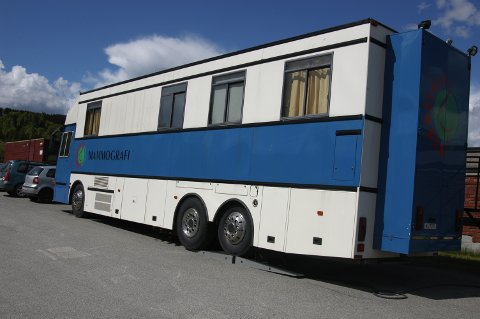 KOMMER: Mammografibussen kommer til Jaren 27. februar. Arkivfoto