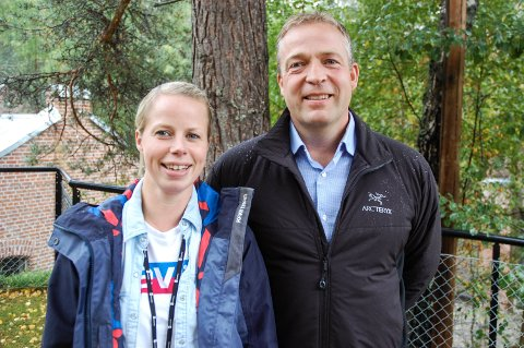 KLARE: Kristine Belsby Bjertnæs og Morten Lafton er Jevnaker Aps toppkandidater før neste års kommunevalg.