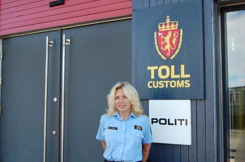 Kontorsjef ved grensekontrollen Svinesund, Wenche Fredriksen.