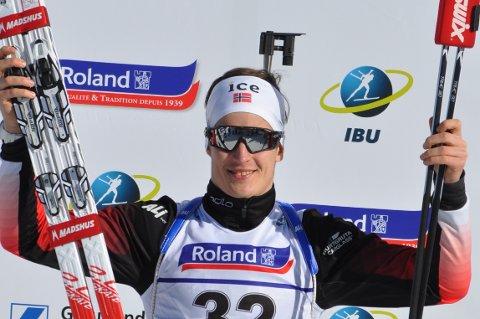 NYTT GULL: Vebjørn Sørum kunne smile etter sitt fjerde VM-gull lørdag.
