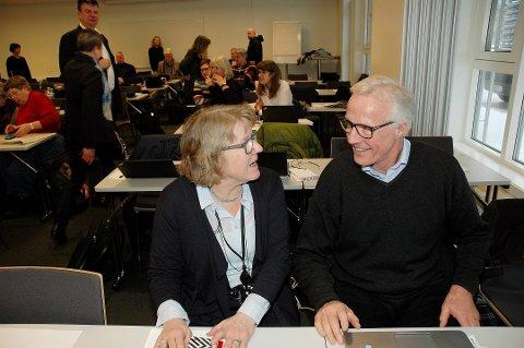NESTLEDER: Sykehusdirektør Alice Beathe Andersgaard og Torbjørn Almlid møttes igjen på tilhørerbenken da styret i Helse Sør-Øst vedtok Mjøssykehuset i januar 2019. Nå blir han ny nestleder i Sykehuset Innlandet.