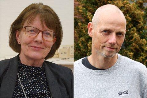 Planlegger for pandemiens store inntog: Kommunalsjef Solveig Olerud og kommuneoverlege Bjarne Oure.