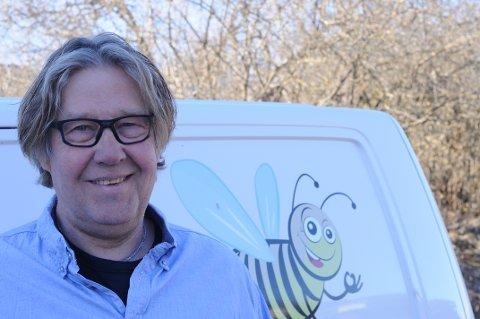 NYTT FIRMA: Jesper Degn-Petersen fra Brandbu er mannen bak Bie Sprinkler.