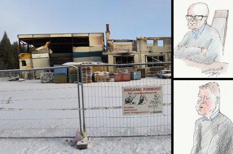 DOM: Tidligere daglig leder Terje Lofthus (øverst) og styreleder Tord Linnerud i Metallco Aluminium ble funnet skyldige av Gjøvik-tingrett. Tegninger: Herb