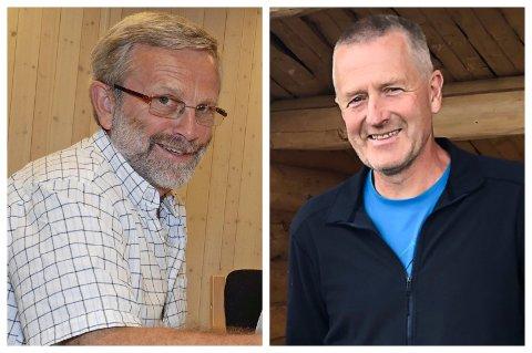 OVERTAR: Knut Narvestad (til venstre) har gitt stafettpinnen videre til Harald Kvam. Sistnevnte er ny bestyrer i Gran almenning.
