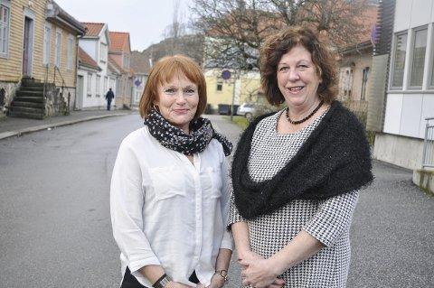 Ikke i mål: De har fullført årets bosetting, men  Karin Oraug Til v.) og Astrid Nordstrand er langt fra i mål.