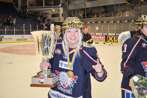 Madelen Haug Hansen ble svensk mester tidligere i år. I går avgjorde hun for Norge i den første VM-kampen.