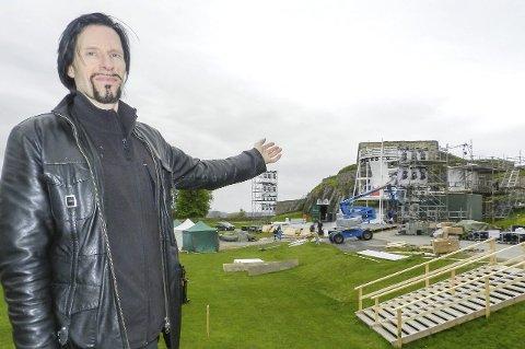 Svein Bjørge: – Jeg må innrømme at jeg har tenkt tanken på at vi om to år kan bruke operascenene som allerede står der. Foto: Morten Paulsen
