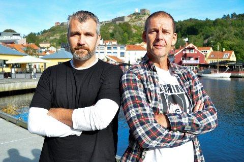HAs håndballeksperter Øyvind Liland og Odd Petter Nilsen.  Arkivfoto: Atle Wester Larsen