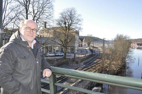 BÅNDLAGT:  – Jernbaneverket har nå opprettet en hensynssone som omfatter Tyska, Hollenderen, Mølen og hele jernbaneområdet opp mot Vaterland bru. Det betyr at området er båndlagt fram til 2024, sier Espen Sørås.