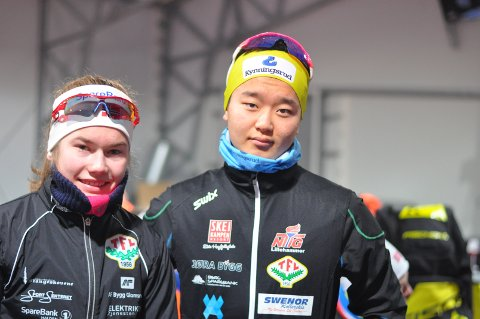 Martine Svendsby og Petter Stokkeland tok hver sin andreplass i Romjulsrennet.
