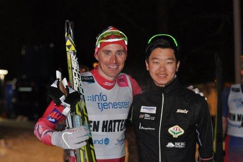 Ola Vigen Hattestad (tv) ga Petter Stokkeland noen gode råd på veien.