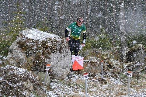 Trygve Fosse fikk snøstorm i innspurten.