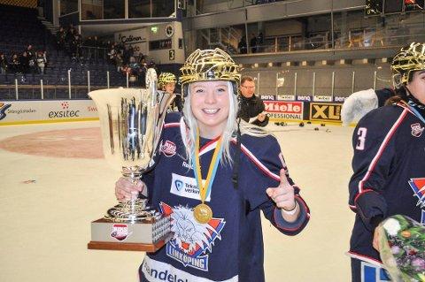 SM-GULL: Madelen Haug Hansen har allerede rukket å få med seg to svenske seriemesterskap med Linköping.
