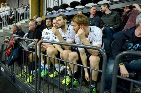 FIRE UTE: Denne kvartetten hadde røde kort før kampen mot Lillestrøm. Der pådro samtlige seg nok et rødt kort, og dermed må de stå over mot Halden, og er klare da sluttspillet tar til.