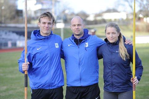 Klare for en ny sesong. Fra venstre Alexander Skorpen, Teemu Pasanen og Emilie Ingerø.