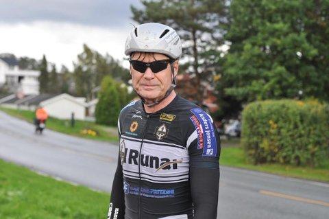 LANG TUR: Roger Næss var ikke helt happy med å sykle fire mil ekstra, men kommer tilbake neste år.