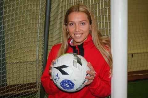 SCORET IGJEN: Anne Marthe Birkeland scoret sitt niende toppseriemål for sesongen, men igjen ble det tap.