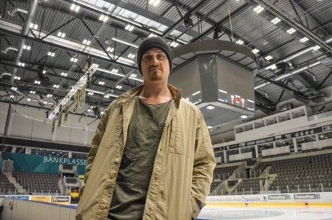 Peter Lorentzen i DNB Arena, der han har høstet mange store triumfer som ishockeyspiller.