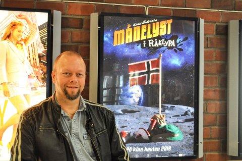 SPENNENDE: Kinosjef Clas Lucky Eriksen mener tiden er overmoden for en kino med tre kinosaler i Halden og han følger planene rundt tidligere Halden storsenter med stor interesse.