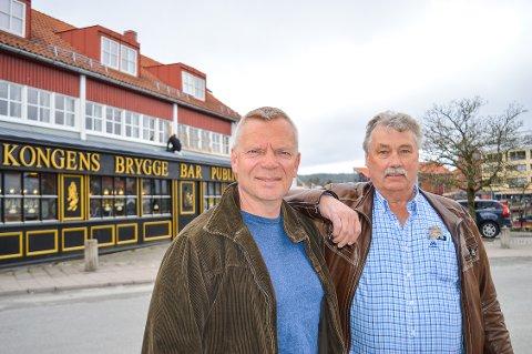 MANGE KONSERTER:Dag Gulbrandsen og Ulf Myhre gleder seg til en begivenghetsrik sommer på Kongens Brygge.