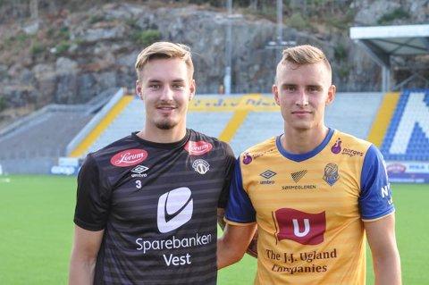 DELTE LIKT: Kjetil Haug (tv) og Martin Hoel Andersen delte poengene da Jerv og Sogndal spilte 0-0.