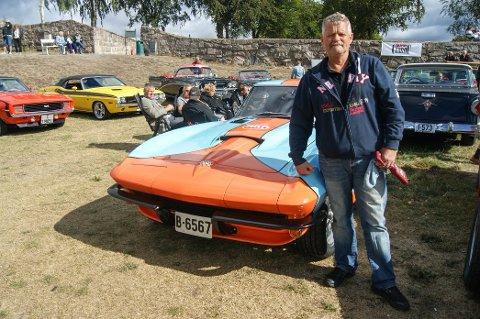 UNIKT DESIGN: Da Henrik Kjær skulle restaurere bilen sin, var det ikke snakk om at den skulle gli inn i mengden.