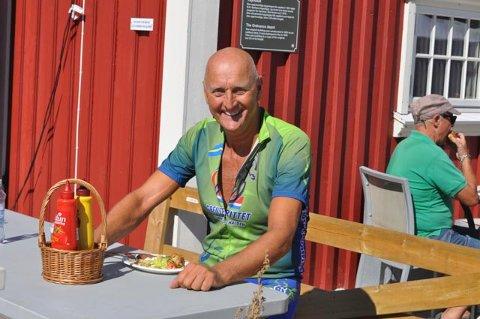SMILTE: Thor Fagereng kunne ta en velfortjent middag etter endelig å ha debutert som syklist i Grenserittet.